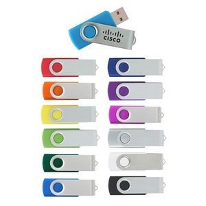 8GB Swing USB Flash Drive w/Metal Swivel Cover