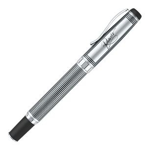 Silver Heavyweight Brass Construction Roller Ball Pen