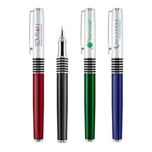 Ridgement Rollerball Pen w/Satin Chrome Removable Cap