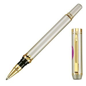 Elite Rollerball Pen w/Removable Cap & Gold Trim