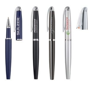 Juno Rollerball Pen w/Removable Cap & Chrome Pocket Clip
