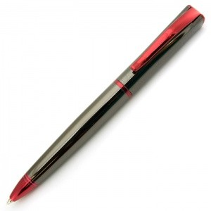 Monteverde USA® Impressa™ Ballpoint Pen (Gun Metal Gray/Red)