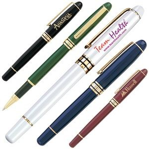 Brass Cap Off Rollerball Pen w/ Enamel Finish