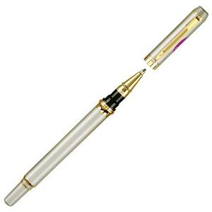 Brass Rollerball Pen w/ Gold Trim