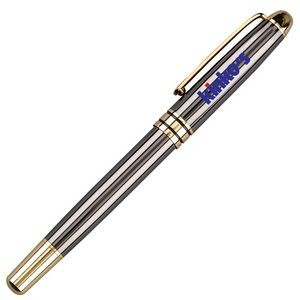 Rollerball Brass Pen w/ Enamel Finish & Gold Trim